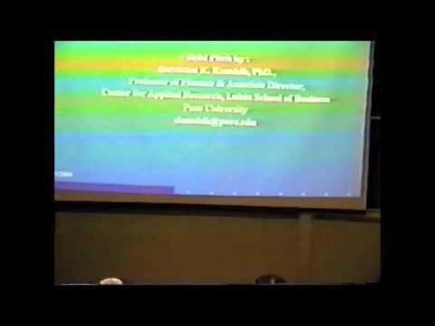 2004 Inaugural Pace Pitch Contest - Professor Surrendra K. Kaushik
