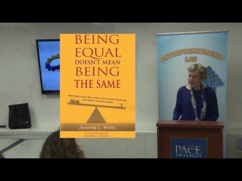 Women Entrepreneurs:  Being Equal Doesn't Mean  Being The Same - Joanna L. Krotz